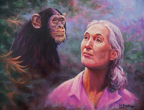 Gorilla's in the mist and Jane Goodall