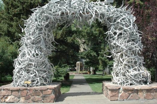 Antler Arch at Jackson Hole WY