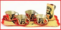 THEME ~ Toys & Games . . . Vintage Tin Lithograph Child's Tea Set