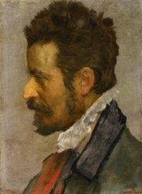 Annibale Carraci (Italian, 1560–1609), Head of a Man in Profile (ca 1588–1595)