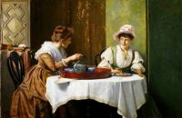 Robert Payton Reid - A Little Tea and Gossip - 1859