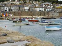 Boats in Mousehole Harbour