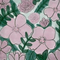 Pink Flowers Art