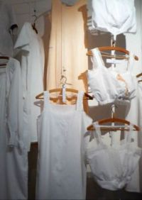 The linen Museum Aalten. All these nighties and underwear have embroidery on them!