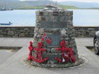 """Shetland Bus"" memorial, Scalloway, Shetlands"
