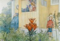 "Carl Larsson, ""Dressing Up"""