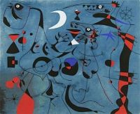 People at Night Guided by the Phosphorescent Tracks of Snails - Joan Miro
