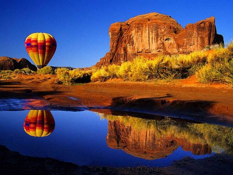 Hot air balloon in Arizona