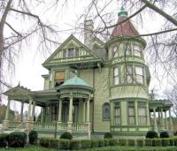 Green Queen Anne Victorian Home