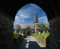 Entrance to St Enodoc Church, Cornwall