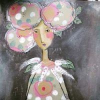 Flower head girl