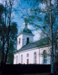 The church in Strömsund in spring