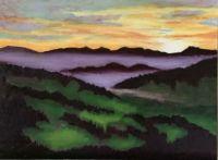Northern California mountain sunset