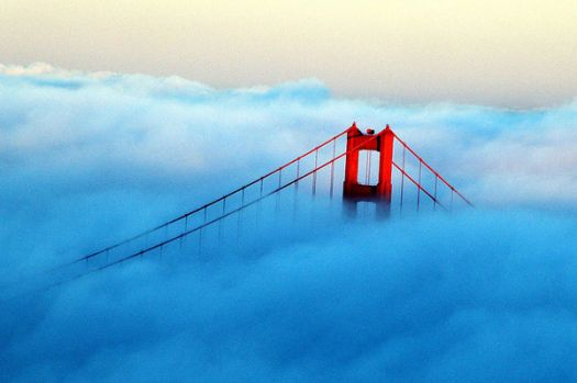 THEME: Weather: Fog over Golden Gate Bridge
