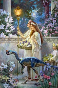 Garden of Hope, James Gurney, from Dinotopia