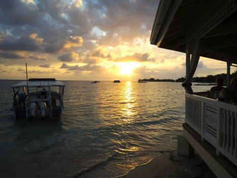 Sunset at our Favorite Restaurant in Jamaica!