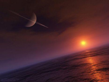 Sunrise on Titan