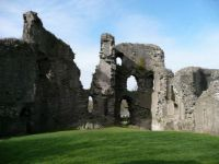 Abergavenny Castle curtain wall interior