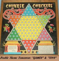 "New Theme Tomorrow: ""Toys & Games""  Chinese Checkers - I love this game!"