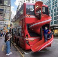 Bus Exit in Hong Kong