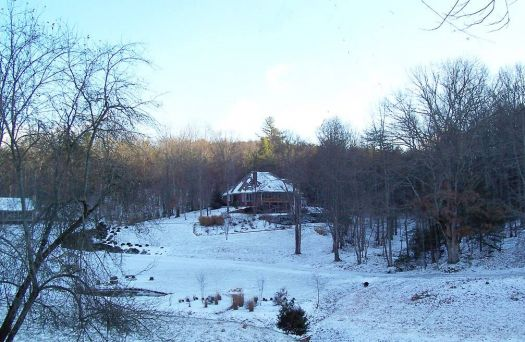 north GA house in snow