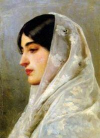 Eugène de Blaas  A Young Beauty, 1882