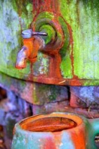 rusted tap