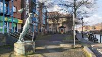 Captain Cat statue in Swansea Marina