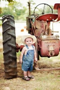 How cute. Gettin' ready to plow the fields.