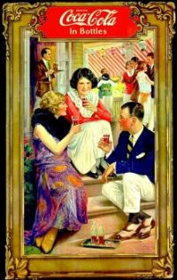 Themes Vintage ads - Coca Cola 1921 Garden Party Poster