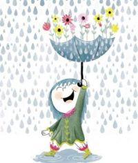 chuva de flores