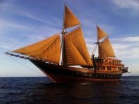 Large Wooden Sail Boat