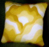 Freeform bargello cushion - 1