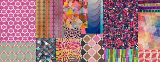 colored shapes and patterns