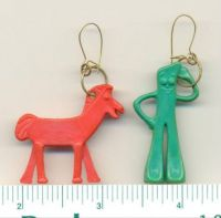 Gumby & Pokey earrings