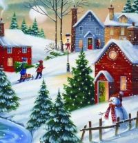 Beautiful Christmas village