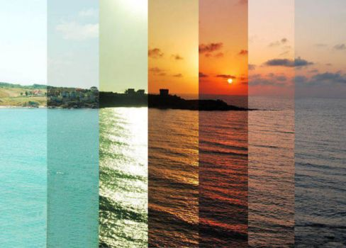 Time lapse photography: dawn to dusk