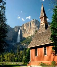 Church near Upper Yosemite Falls
