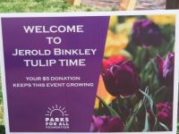 Sign for Tulip Gardens