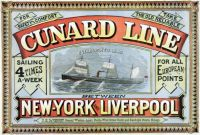 Cunard Line New York Liverpool 1875