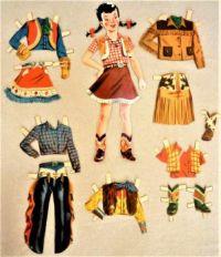 Paper Doll   ~~  Cowgirl   Yippee-I-O-Ki-AAAAy