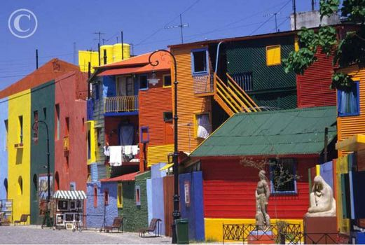 colourful houses Caminito Buenos Aires