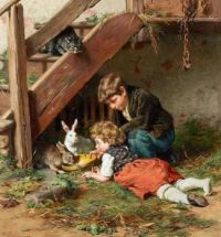 """Felix Schlesinger, """"Feeding in the Afternoon"""""""