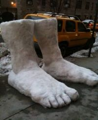 Two feet of snow