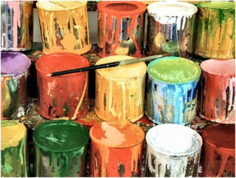 Messy Paint Buckets