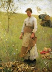 """Sir George Clausen, """"The Stone Pickers"""", 1887"""