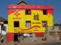Advertisment painted house, Madagascar