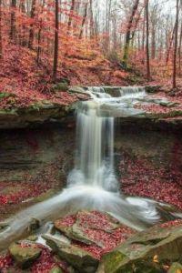 Cachoeira no Parque Nacional do vale de Cuyahoga em Brecksville, Ohio, EUA !!!
