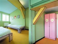 A Real Room, Painted to Look Like a Cartoon