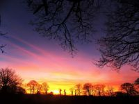 The Devon sky prepares for Christmas